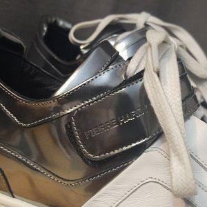 Pierre Hardy Shoes - Pierre Hardy Metallic White Sneakers EU 45 US12